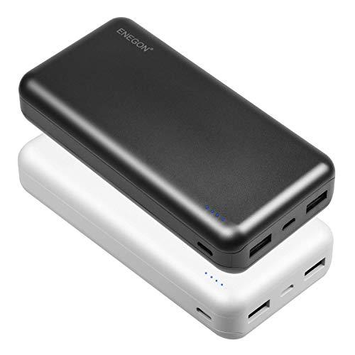ENEGON 2 Power Bank Portatili da 20000mAh, Batteria del Caricatore del Telefono con Ingresso USB Type-C e Doppia Uscita USB per iPhone, iPad, Galaxy S9, Tablet e Altro