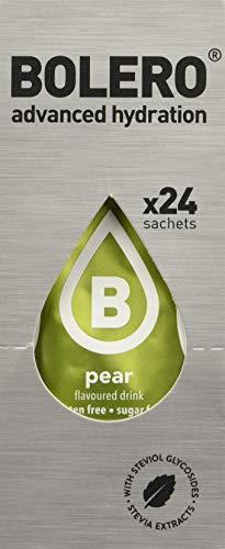 Bolero Bebida Instantánea sin Azúcar, Sabor Pera - Paquete de 24 x 9 gr - Total: 216 gr