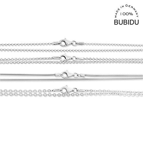 Silberkette 38cm ❤️ Kette aus 925 Sterling Silber ❤️ Kugelkette Erbsenkette Ankerkette Schlangenkette ❤️ Kette für Anhänger für Kinder für Frauen 38cm lang kurze Babykette