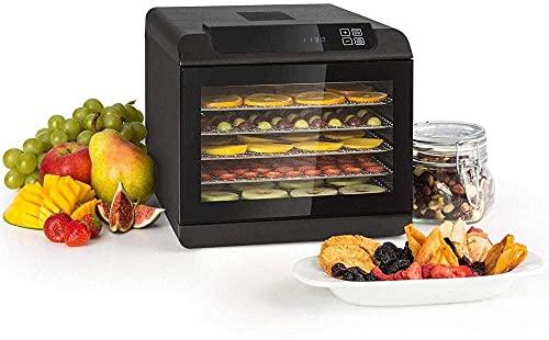 WXking Máquina de deshidratador eléctrico de alimentos de deshidratador eléctrico, secadora de carne y fruta, 500 vatios, 35-70 ° C, 6 celosías de almacenamiento con lavavajillas, tiempo de secado cor