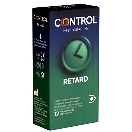 Control Retard - 12 Kondome für längere Liebe, länger können mit Wirkstoff (Benzokain)