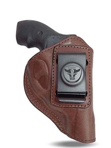 Cardini Leather USA – Zorro Series Holster – Right Handed – Brown Leather – For Ruger LCR 38 Special – Concealed Carry IWB with Clip