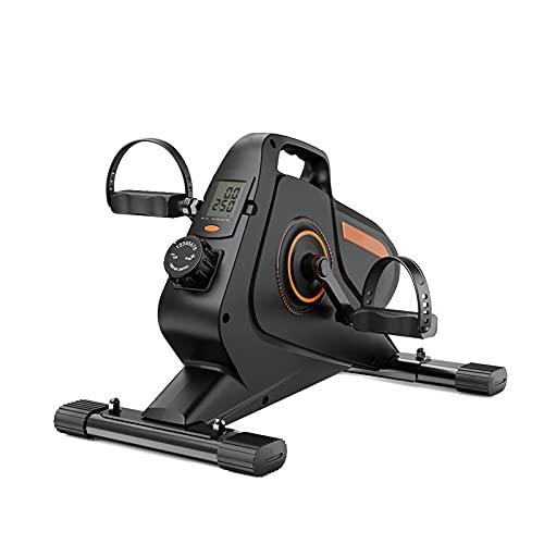 CXSMKP Ejercitador de Pedal para Bicicleta Debajo del Escritorio-Mini estática magnética,para Brazos y piernas,Bicicleta escritoriopara Entrenamiento en casa la Oficina,con Pantalla LCD