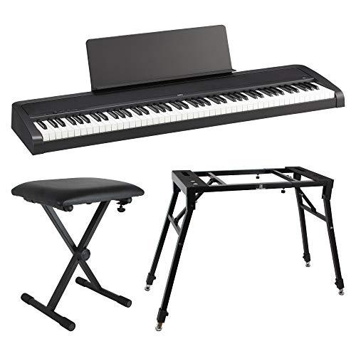 KORG B2 BK 電子ピアノ Dicon Audio 4本脚型 キーボードスタンド&ベンチ 3点セット
