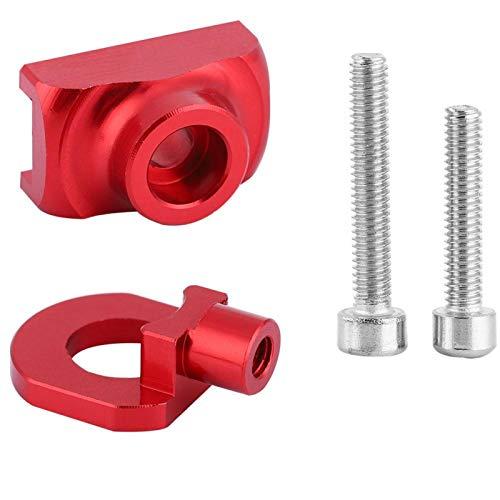 Gonnely Tensor de Cadena de Bicicleta - Tensor de Cadena de Bicicleta Sujetador de Ajuste de aleación de Aluminio para Bicicleta Plegable(Red)