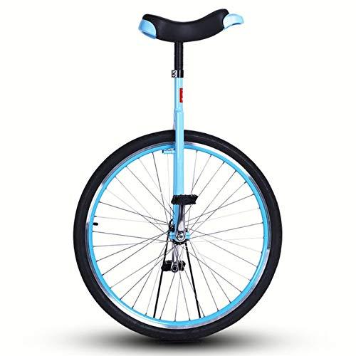 TTRY&ZHANG Blue Large 28'Rueda Unicycle para Adultos Unisex Los niños Grandes, Uni Uni con llanta de aleación, Bicicleta de Pedal de Ciclismo de una Sola Rueda, Deportes al Aire Libre