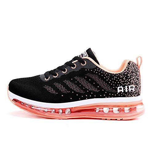 Unisex Herren Damen Sneakers Sportschuhe Bequeme Laufschuhe Schnürer Air Running Shoes 35-45(833Rored37)