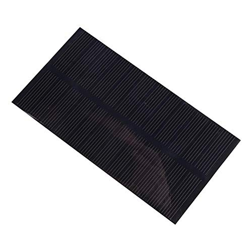 T best Solar Panel, 1W 6V DIY Solar Power Charging Panel Safety Monocrystalline Silicon Solar Panel Outdoor Solar Phone Charger