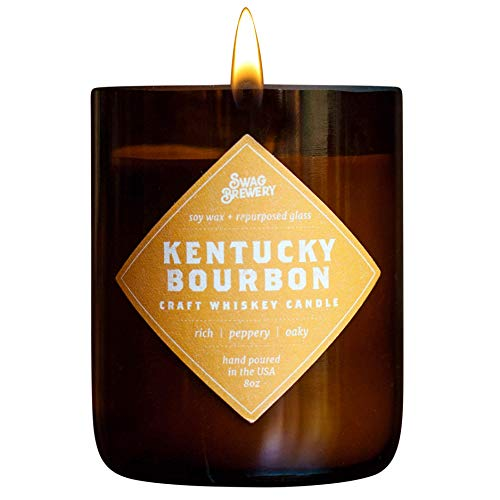 Swag Brewery Kentucky Bourbon Brew Candle - Whiskey Gift, Man Cave Gift