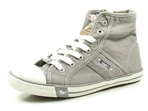MUSTANG Damen 1099-502 Hohe Sneaker, Grau (Silbergrau 932), 38 EU