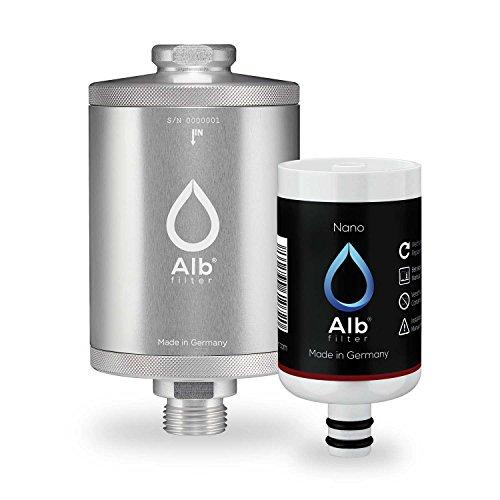 Alb Filter® Nano Trinkwasser-Filter für jede Küche. Zertifizierte Spezial-Filter-Kartusche gegen gefährliche Keime und Baketerien. Silber