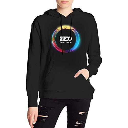 Tengyuntong Zedd Men's Hooded Sweatshirt, Women's Hoodies Casual Hooded Drawstring Sweatshirts with Pocket - Black - X-Large