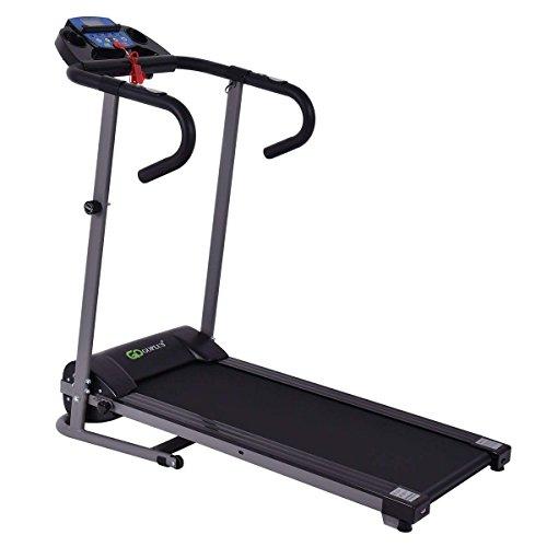 Goplus 1100W Folding Treadmill Electric Motorized Power Fitness Running Machine w/Support Black
