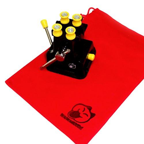 WAIWAIGOODS 卓上 小型 万力 ホビー 用 ミニ バイス 軽量 コンパクト 手作業 工具 保護収納袋 セット (Cタイプ)