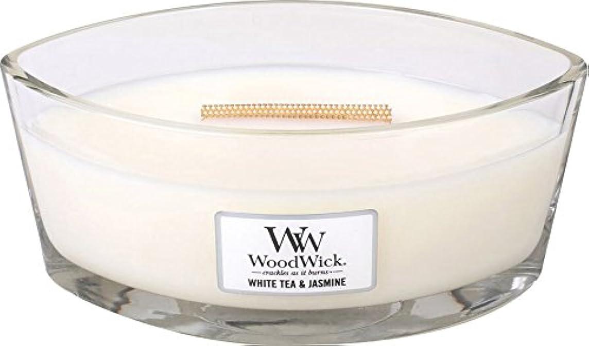 大きい器用変換Wood Wick ハースウィックキャンドルL ホワイトティージャスミン