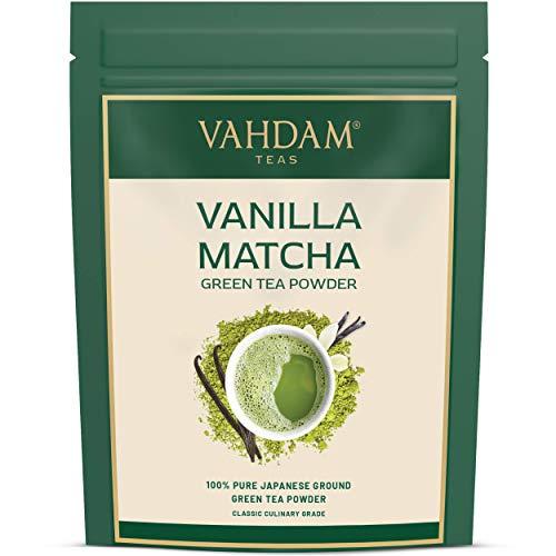 VAHDAM, té verde matcha de vainilla (50 porciones) | 100% P