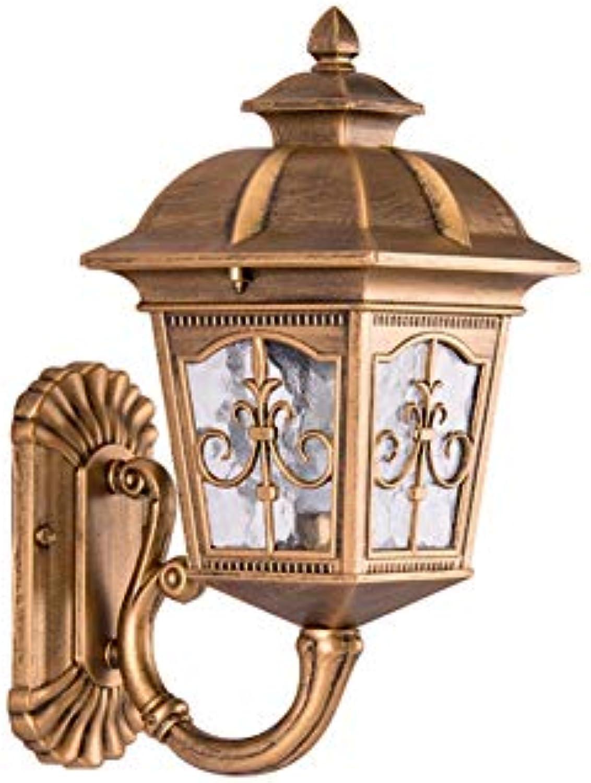 Traditionelle e27 amerikanische auenwandleuchte auenleuchte wandleuchten villa korridor balkon tür gartenhof lampe wasserdicht ip55 (Farbe   Bronze-H-40cm)