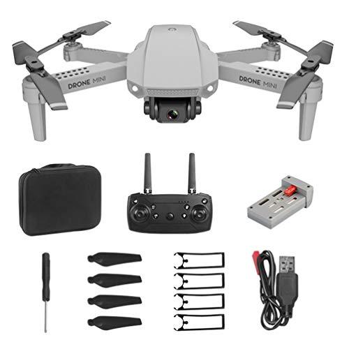 SOLUSTRE Drone Quadricottero Pieghevole Mini Drone per Fotografia HD 4K E88 con Fotocamera Quadricottero Rc con Custodia