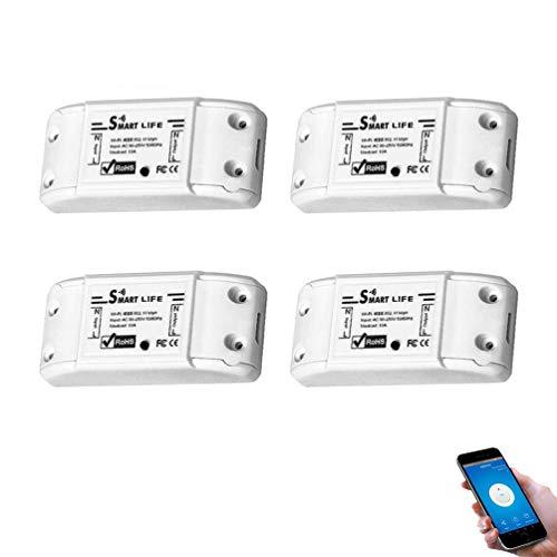 Glückluz Smart Switch Interruptor inteligente Compatible with Alexa Google Home Control Remoto del Smartphone Conector de Interruptor...