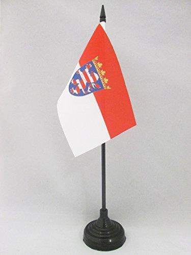 AZ FLAG TISCHFLAGGE Hessen 15x10cm - Hessen TISCHFAHNE 10 x 15 cm - flaggen