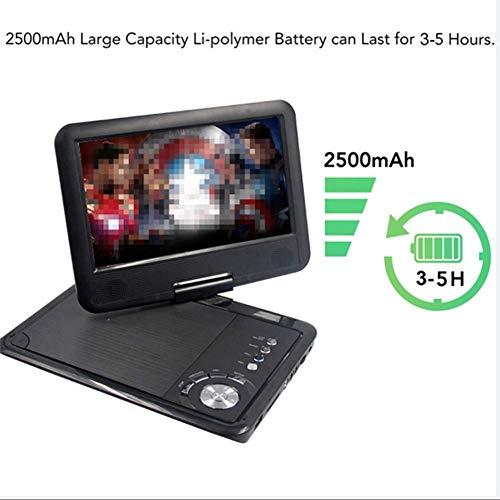 DVD-speler, draagbare 9-inch dvd-speler, draaibare scherm auto-oplader USB-SD-kaart headset TV FM opladen VCD CD MP3, home audio broadcasting
