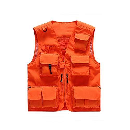 THBEIBEI Mens Vest Tactisch vest multifunctioneel outdoor ademend hol slank voor kamperen jacht vissen