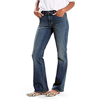 Levi s Women s Classic Bootcut Jeans Hits of Embroidery 32  US 14  M