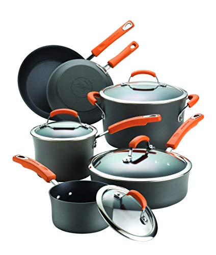 Rachael Ray 87375 Brights Hard Anodized Nonstick Cookware...