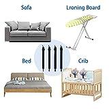 Bedecor verstellbare Bettlakenspanner, 8 Stück, Weiß, elastisch, für die Ecken von Bett, Matratze oder Sofa (30-120cm) - 4