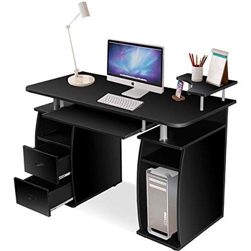 Tangkula Computer Desk, Wood Home Office...