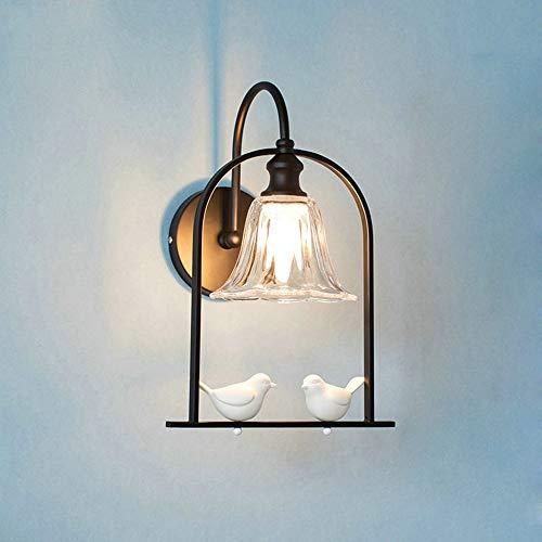 De enige goede kwaliteit decoratie Scandinavische Moderne Minimalistische Woonkamer Slaapkamer Nachtkastje Wandlamp Badkamer Spiegel Voorgang Balkon Trappen Vogels Glas Wandlamp 25x30cm
