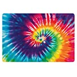 UNICEU Colorful Tie Dye Print Entrance Door Mat Entry Way Doormat Front Door Rug Outdoor Fashion Welcome Mat Home Decor - Stain Resistant, Easy to Clean