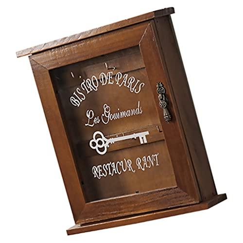 Garneck Caja de Llaves de Entrada Rústica Caja de Llaves Colgante Vintage Caja de Almacenamiento para Llaves de Montaje en La Pared Armario de Pared para Baño Decoración para El Hogar