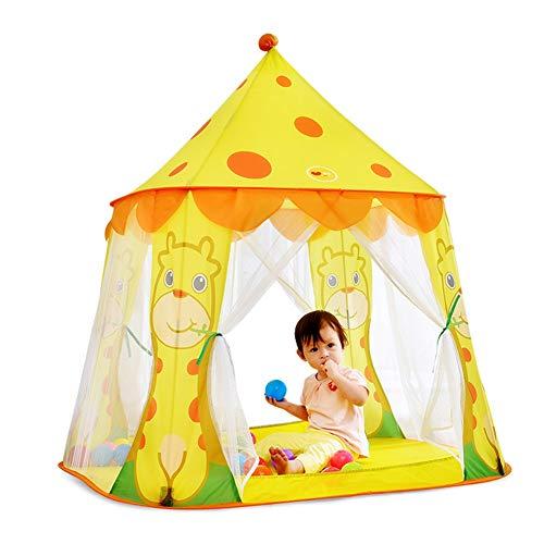 HLMIN Tipi Zelt for Kinder Mädchen Gelbe Prinzessin Castle Tragbares Spielhaus Indoor-und Outdoor-Spiel Kinder Party Zelte (Color : Yellow)