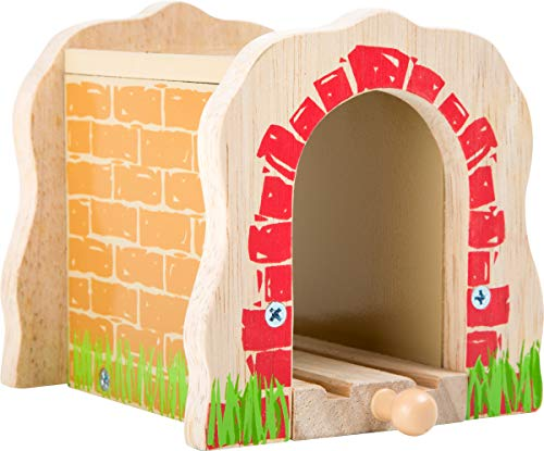 small foot 10271 Tunnel per ferrovie in legno, compatibile con tutte le ferrovie commerciali, a partire da 3 anni di età