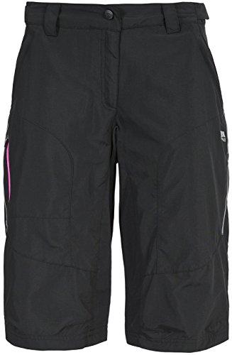 Trespass Sinem Shorts de Sport Femme, Noir, FR (Taille Fabricant : XL)