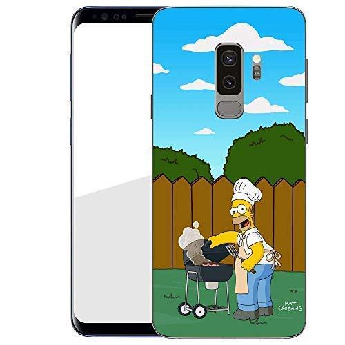 Finoo Hülle für Samsung Galaxy S9 Plus - Handyhülle mit Motiv und Optimalen Schutz Tasche Case Hardcase Cover Schutzhülle - Homer Grill Garten