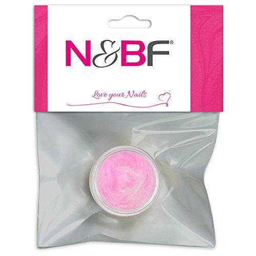 N&BF Nail Art Federn Girlish Pink (Rosa) | Nageldesign Federn als Einleger für Gel, Nagellack und Acryl Modellagen | 3D Inlay Feder | Nagel Dekoration | Feather Schmuck