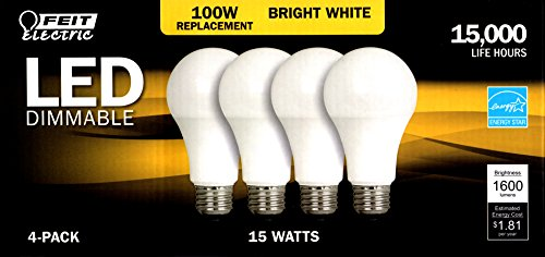 Feit 4 Pack of LED Dimmable Bulbs