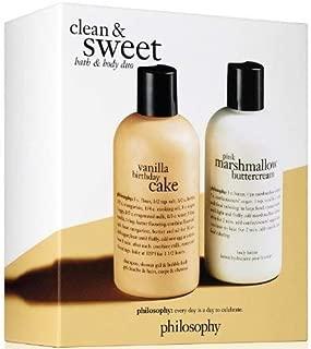 Philosophy - Clean and Sweet Bath & Body Duo - Vanilla Birthday Cake Shampoo/Pink Marshmallow Buttercream body lotion