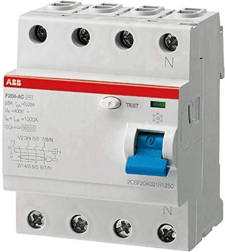 """ABB FI-Schutzschalter 4-polig Typ A,\""""F204A\"""" 40 A, 0.3 A Fehlerstrom-Schutzschalter"""