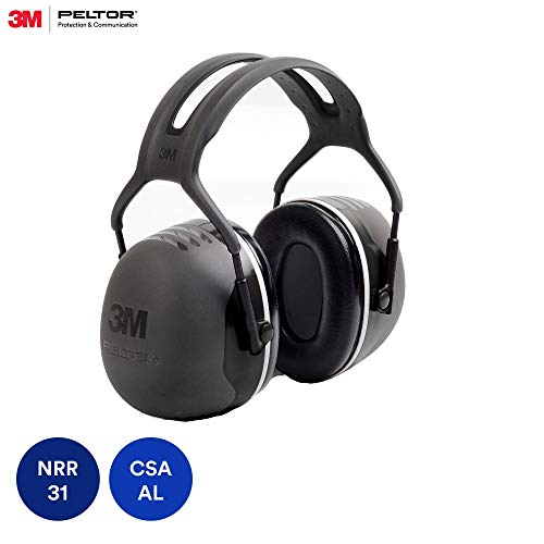 3M PELTOR X5A Over-the-Head Ear Muffs, Noise Protection, NRR 31 dB, Construction,...
