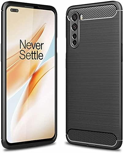 BNBUKLTD® Compatible con OnePlus Nord Case Funda de gel y protector de cámara de cristal