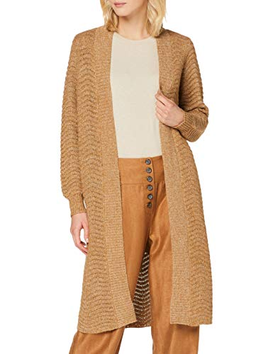 YAS Damen YASBETRICIA Long Knit Cardigan S. Strickjacke, beigebraun, S