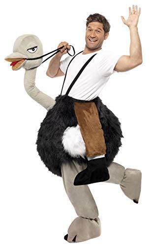 Smiffys Costume da struzzo con zampe finte appese, nero, bianco e grigio