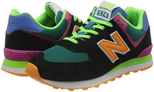 New Balance Men's 574 ML574MA2 Medium Sneaker, Black (Black MA2 ...