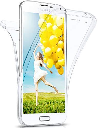 moex Double Case für Samsung Galaxy S5 / S5 Neo - Hülle mit 360 Grad Schutz, Silikon Schutzhülle, vorne und hinten transparent, Clear Cover - Klar