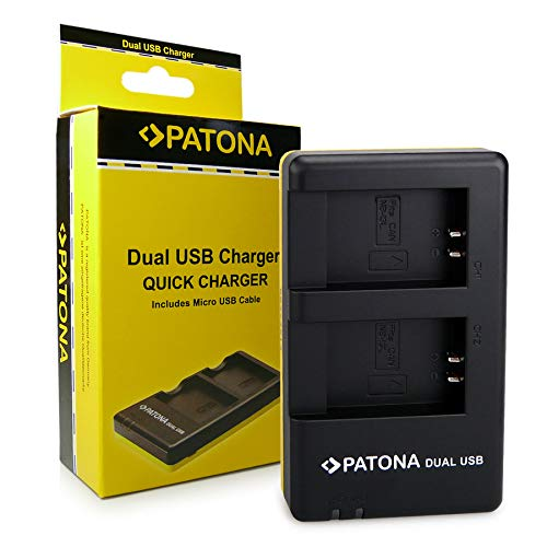 PATONA Cargador Doble para NB-13L Bateria Compatible con Canon PowerShot G1 X, G7 X, G9 X Mark II, LEGRIA Mini X