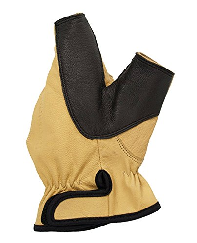 Bogenhandschuh aus Leder für Linkshänder Größe M oder L von Bearpaw Products LARP Bogenschützen Mittelalter Handschuh (L)