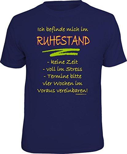 RAHMENLOS Original T-Shirt für den aktiven Rentner: Bin im Ruhestand, Keine Zeit… Größe XL, Nr.4222